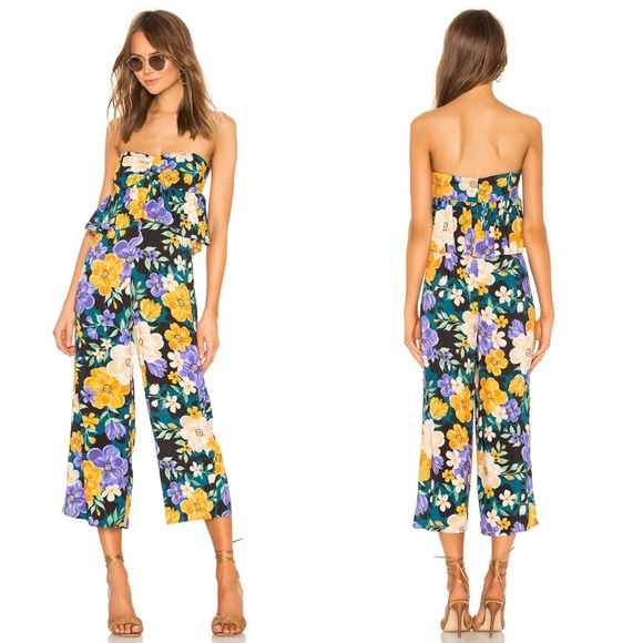 NEW Tularosa Marley Floral Strapless Jumpsuit